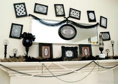 Halloween Mantel Decorations (2)