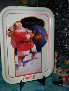 1991 Coca Cola Christmas Santa Claus Metal by thetrendykitchen, $15.00