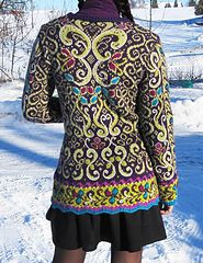 Ravelry: Fitted Jacket with Embroidery pattern by Kari Haugen