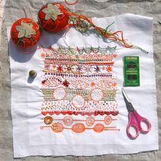 Cake Embroidery Sampler-FLORAL PRINT
