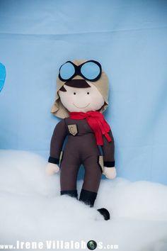 Boneco aviador feltro