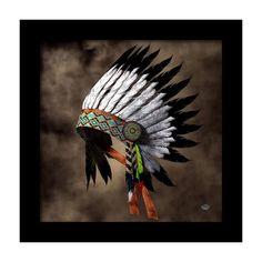 Native American Wall Art - Digital Art - War Bonnet by Daniel Eskridge Native American Headdress, Native American Decor, Native American Paintings, Native American Images, Native American Artifacts, American Indian Art, Native American Indians, Native Indian, Native Art