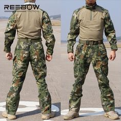 93.74$  Watch here - http://aliacz.worldwells.pw/go.php?t=2023553192 - REEBOW TACTICAL Outdoor Men Python Camouflage Hunting Uniforms of Shirt & Pants Military Set of Pullovers and Trousers