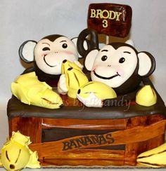 monkeying around! monkey themed birthday cake
