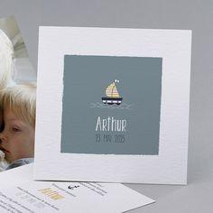 Faire-part de naissance personnalisés, faire-parttendance, marin fpc
