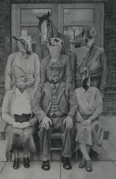 """office politics"" - graphite"