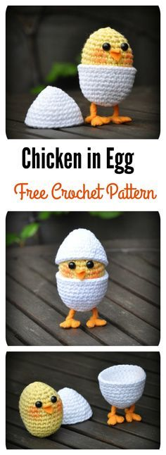 Chicken in Egg Free Crochet Pattern