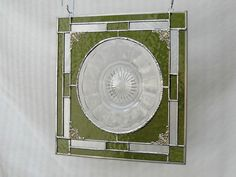 Vintage Stained Glass Plate Panel Depression by HeritageDishes