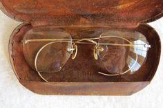 Vintage Eyeglasses Art Deco Bifocals with by EMStreasureseekers, $22.00