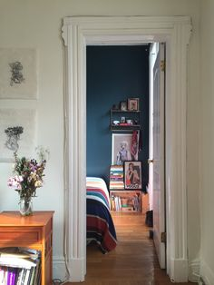 A Teeny-Tiny (50 Square Foot!) Bold, Blue Bedroom in Brooklyn