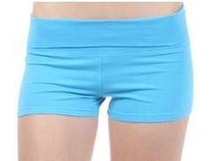 Fold Over Yoga Style Cotton Spandex Shorts