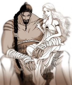 Khal Drogo and Daenerys - Game of Thrones