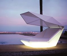 Glowing, Covered Daybed - Faz Daybed by Vondom