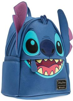 This faux leather mini backpack by Loungefly from the Disney Parks features comfy padded shoulder straps and the energetic Stitch, who sets the tone wherever you go. Stitch Backpack, Backpack Purse, Small Backpack, Travel Backpack, Cute Stitch, Lilo And Stitch, Disney Stitch, Disfraz Lilo Y Stitch, Faux Leather Backpack