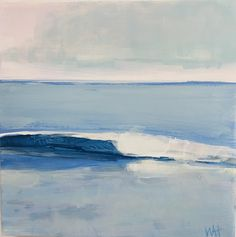 small square wave painting for sale by New England artist Whitney Heavey Seascape Paintings, 30 Day, Paintings For Sale, New England, Waves, Studying, Artist, Artwork, Outdoor