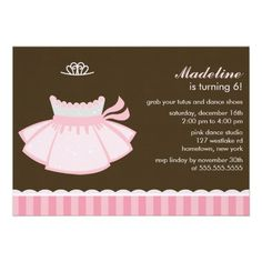 Ballet Party Invitations