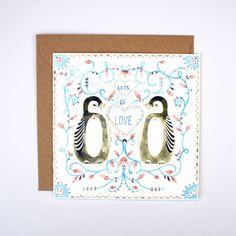 Lots of Love Pengiuns Card