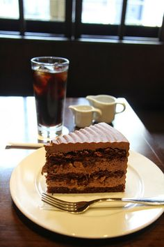 German chocolate and walnut cake from HARBS Cafe in Kyoto