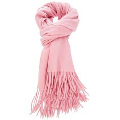 Pink Wool Scarf ($77) ❤ liked on Polyvore featuring accessories, scarves, pink, pink shawl, woolen shawl, wool shawl, wool scarves and pink scarves