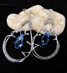 Wire wrapping briolette earrings tutorial by annasgallery on Etsy, £3.99
