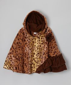 Take a look at this Fab Feline Leopard Fleece Poncho - Infant, Toddler & Girls on zulily today!