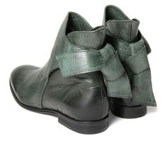 Women's Etty (Green) Leather Ankle Boots | H by Hudson