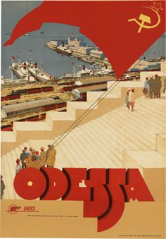 TR49 Vintage Urss Odessa LA Russie Soviétique Russe DE Voyage Poster Imprimer A4 | eBay