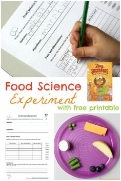 Food Science Experiment - Let your children design a food experiment to find out what foods they like to eat. It's a fun way to try new foods and learn about conducting a science experiment. Food Science Experiments, Easy Science, Science Fair Projects, Stem Projects, Science Activities For Kids, Kindergarten Science, Steam Activities, Science Ideas, Science Classroom