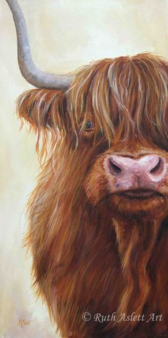 beautiful than each other painting ideas on canvas, aesthetic painting, back painting, chalk paint colors, fondos painting ideas. Check out other wonderful examples Highland Cow Painting, Highland Cow Art, Highland Cattle, Farm Paintings, Animal Paintings, Wall Paper Iphone, Fluffy Cows, Cow Pictures, Cow Print