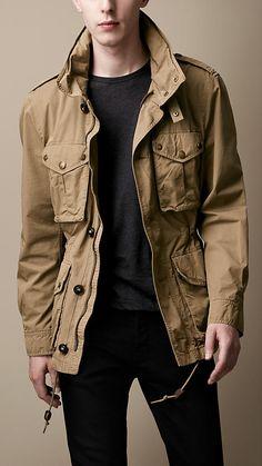 Burberry Brit Heritage Cotton Field Jacket