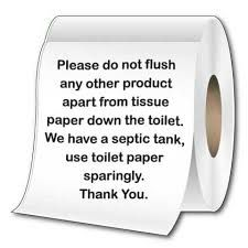 Image result for toilet septic tank sign