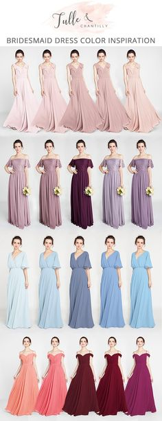 hot sale bridesmaid dresses from tulle and chantilly #bridesmaiddresses #bridalparty #wedding