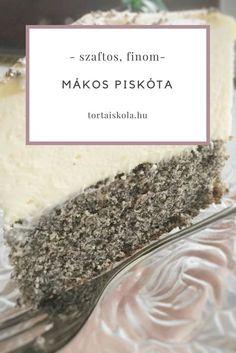 Isteni mákos piskóta recept Hungarian Desserts, Hungarian Recipes, Hungarian Food, Cake Tutorial, How To Dry Basil, Paleo, Food And Drink, Herbs, Sweets