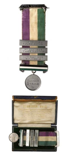This Medal for Valor was presented to suffragette Florence Haig, commemorating her hunger strikes and incarcerations for the cause. Antique Rings, Antique Jewelry, Suffragette Jewellery, Suffragette Colours, Suffrage Movement, All Things Purple, Ancient Jewelry, Edwardian Fashion, Women In History