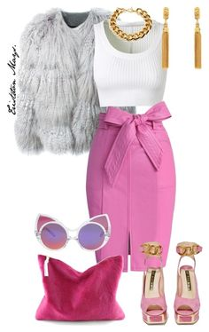 """""""I'm Chanel #1 Obiv."""" by monroestyles ❤ liked on Polyvore featuring Chloé, Alaïa, Chicwish, Kat Maconie, Ben-Amun, Linda Farrow and ScreamQueens"""