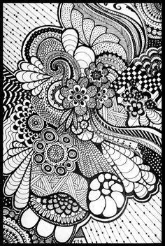 Doodle Art Letters, Easy Doodle Art, Doodle Art Designs, Doodle Art Journals, Doodle Patterns, Zentangle Patterns, Zentangle Drawings, Doodles Zentangles, Paisley Art