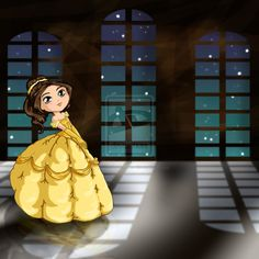 Belle Chibi by ~thedustyphoenix on deviantART