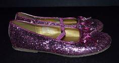 "Disney Princess Sz 12 Pink Girl's Mary Jane Shoes with Glitter Heels 25"" | eBay"
