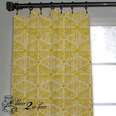 Trendy Tribal Gold Custom Window/Closet Panel