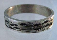 Men's Rugged Wedding Ring Band Oxidized by EmilyWiserJewelry, $400.00