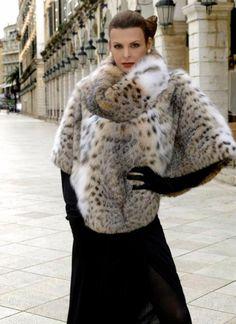 lynx fur pullover