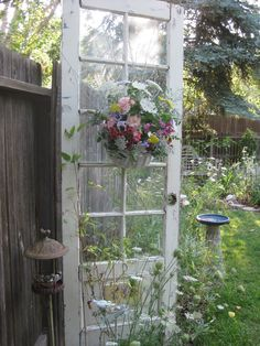 Garden Door  (remember that old doors don't have safety glass.  best to remove it if children are about)