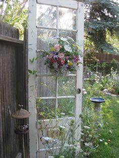 Old door in the garden