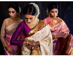 Kanjeevaram classic posted by . Sarees by Indian Wedding Outfits, Indian Outfits, Indian Clothes, Saree Dress, Saree Blouse, Traditional Silk Saree, Wedding Silk Saree, Tamil Wedding, Kanjivaram Sarees