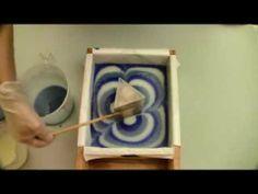Cold Process - making triangle column swirl soap