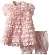 28dfb3b2fdf Biscotti Baby-girls Newborn Wrapped In Ruffles Baby Dress   Bloomer
