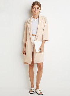 Cotton & Cotton Blend Beige Long Long Sleeve Lapel Coats & Jackets