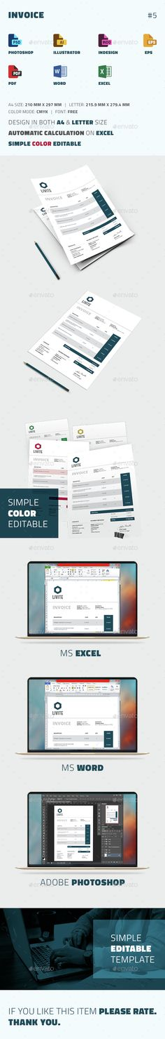 Invoice Excel Business proposal, Proposal templates and Letterhead