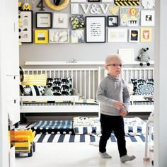 kids space | black and white | yellow