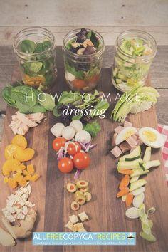 How to Make Dressing: 4 Basic Salad Dressing Recipes | AllFreeCopycatRecipes.com